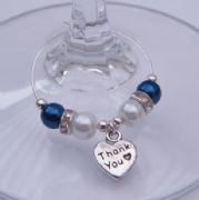 Thank You Wine Glass Charm - Elegance Style